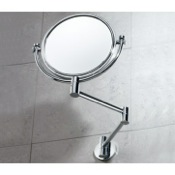 Makeup Mirror Wall Double Sided Chrome 2x Magnifying Mirror Gedy 2104-13