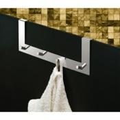 Bathroom Hook Chrome Over Door Multiple Hook (for shower door) Gedy 2124-13