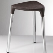 Bathroom Stool Wenge Leather Stool 2172-E9 Gedy 2172-E9