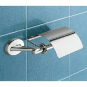 Toilet Paper Holder Classic Chrome Toilet Roll Holder With Cover Gedy 3025-13