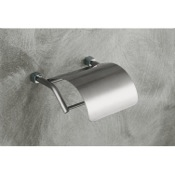 Toilet Paper Holder Satin Nickel Toilet Roll Holder with Cover Gedy 3125-40