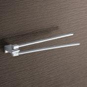 Swivel Towel Bar 13 Inch Polished Chrome Double Arm Swivel Towel Bar Gedy 3823-13
