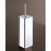 Toilet Brush Square Chrome Toilet Brush Holder Gedy 3833-13
