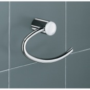 Toilet Paper Holder White and Chrome Toilet Paper Holder Gedy 4624-02