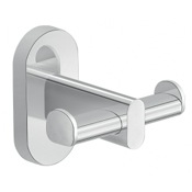 Bathroom Hook Wall Mounted Chrome Double Bathroom Hook Gedy 5326-13