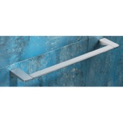 Towel Bar Square 24 Inch Polished Chrome Towel Bar Gedy 5721-60-13