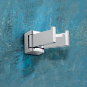 Bathroom Hook Square Polished Chrome Jointed Clothes Hook Gedy 5728-13