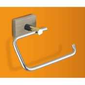 Toilet Paper Holder Washed Oak and Chrome Toilet Roll Holder with Wall Mount Gedy 6624