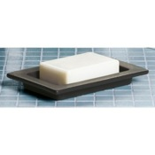 Soap Dish Rectangular Moka Porcelain Soap Holder Gedy 6651-29