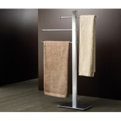 Towel Stand Square Chromed Brass Towel Stand 7631-13 Gedy 7631-13