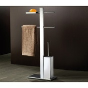 Bathroom Butler Free Standing Chrome Bathroom Butler 7634-13 Gedy 7634-13