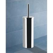 Toilet Brush Round Chrome Toilet Brush Holder Gedy 7833-13