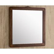 Vanity Mirror 22 x 26 Inch Old Walnut Vanity Mirror Gedy 8100-95