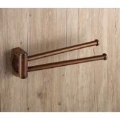 Swivel Towel Bar 14 Inch Wood Double Arm Swivel Towel Bar Gedy 8123-95