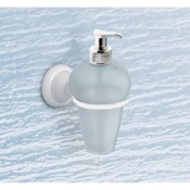 Soap Dispenser Thermoplastic Resin Soap Dispenser With White Mounting Gedy 8285-02