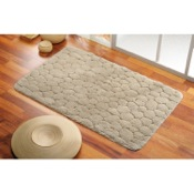 Bathroom Rug 20 x 30 Inch Pebbled Bathroom Mat in Assorted Colors Gedy 96-7350