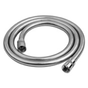 Shower Hose Flexible 59 Inch Hose In PVC Silver Gedy A011130
