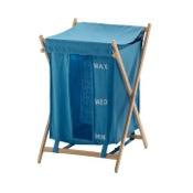 Laundry Basket Light Blue Laundry Basket Gedy BU38-11