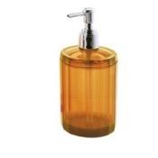 Soap Dispenser Orange Round Soap Dispenser with Chrome Hand Pump Gedy CL80
