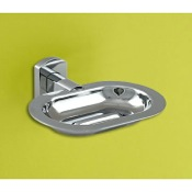 Soap Dish Wall Mounted Polished Chrome Soap Dish Gedy ED12-13