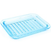 Soap Dish Transparent Sky Blue Soap Dish Gedy 1011-86