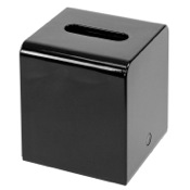 Tissue Box Cover Shiny Square Black Tissue Cover Made of Thermoplastic Resins Gedy 2001-14