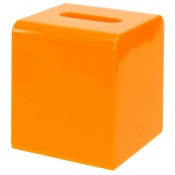 Tissue Box Cover Square Orange Tissue Box Cover of Thermoplastic Resins Gedy 2001-67