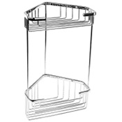 Shower Basket Wire Corner Double Shower Basket Gedy 2482
