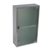 Medicine Cabinet Stainless Steel Cabinet with Cabinet with glass door and 1 shelf Gedy JO07-13