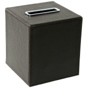 Tissue Box Cover Square Tissue Box Holder Made From Faux Leather Available in Multiple Finishes Gedy AC02