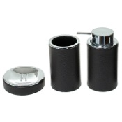 Bathroom Accessory Set Round 3 Piece Accessory Set, Free Stand Gedy AC200-19
