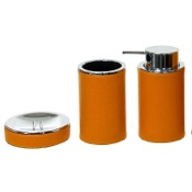 Bathroom Accessory Set Round 3 Piece Accessory Set, Free Stand Gedy AC200-67