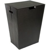 Laundry Basket Rectangular Laundry Basket Made From Faux Leather Available in Three Finishes Gedy AC38