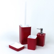 Bathroom Accessory Set Ruby Red Accessory Set of Thermoplastic Resins Gedy ARI100-53