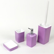 Bathroom Accessory Set Lilac Accessory Set of Thermoplastic Resins Gedy ARI100-79