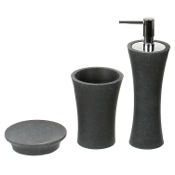 Bathroom Accessory Set Black 3 Piece Bathroom Accessory Set Gedy AU200-14