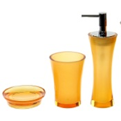 Bathroom Accessory Set Orange 3 Piece Bathroom Accessory Set Gedy AU200-67