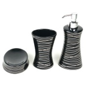 Bathroom Accessory Set Diva Anthracite Silver Decorative Bathroom Accessory Set Gedy DV200-57