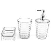 Bathroom Accessory Set 3 Piece Transparent Accessory Set GL200-00 Gedy GL200-00