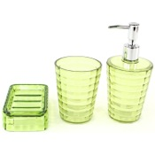 Bathroom Accessory Set Green 3 Piece Accessory Set in Thermoplastic Resins GL200-04 Gedy GL200-04