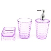 Bathroom Accessory Set Thermoplastic Resins 3 Piece Accessory Set in Lilac GL200-79 Gedy GL200-79