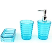 Bathroom Accessory Set 3 Piece Accessory Set in Turquoise GL200-92 Gedy GL200-92