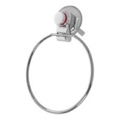 Towel Ring Towel Ring With Suction Cup Mounting and Chrome Finish Gedy HO70