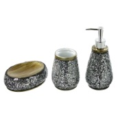 Bathroom Accessory Set Myosotis Decorative Bathroom Accessory Set Gedy MY100-73