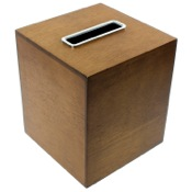 Tissue Box Cover Tissue Box Made From Wood and Available in Two Finishes Gedy PA02