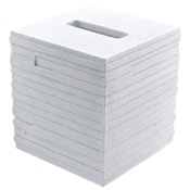 Tissue Box Cover White Free Standing Tissue Box Cover Gedy QU02-02