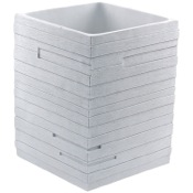 Waste Basket White Free Standing Waste Can Gedy QU09-02