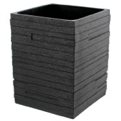 Waste Basket Square Black Waste Can Gedy QU09-14