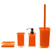 Bathroom Accessory Set Orange Thermoplastic Resins Accessory Set Gedy RA100-67
