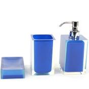 bathroom accessory set 3 piece blue accessory set of resins gedy ra50005